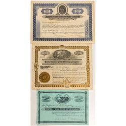 Arizona  Mining Stock Certificates