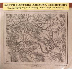 Map of South Eastern Arizona Territory (Globe City Mining Region)