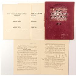 Ray Consolidated Copper Company Annual Reports 1912 and 1918
