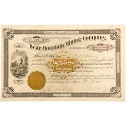 Bear Mountain Mining Company Stock Certificate