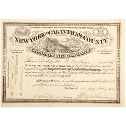 New York and Calaveras County Gold Mining Company Stock