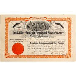 Death Valley - Arcalvada Consolidated Mines Company Stock Certificate