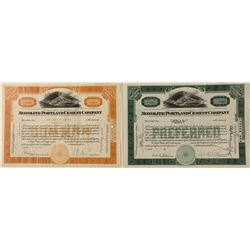Monolith Portland Cement Company Stock Certificates (infamous in Owens Valley)