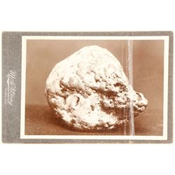Black and White Mounted Gold Nugget Photo