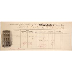 Kellogg & Humbert Assay Office, Gold Bullion Memorandum, 1859, DO Mills