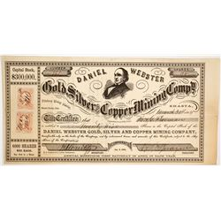 Daniel Webster Gold & Silver & Copper Mining Co. Stock, Shasta County, California, 1864