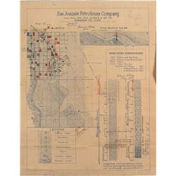 San Joaquin Petroleum Oilfield Map, California 1921