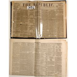 California Gold Rush News in Washington D.C. Newspapers