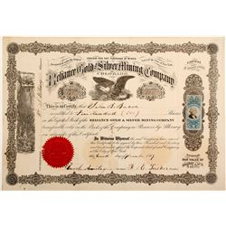 Reliance Gold & Silver Mining Company Stock Certificate