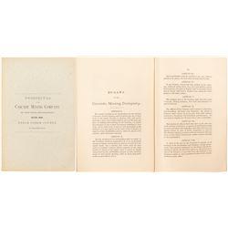 Prospectus of the Cascade Mining Company of New York and Colorado