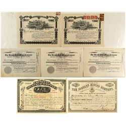 Western Mining Stock Certificates incl. JP Whitney & Warren Woods signatures
