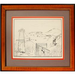 Cripple Creek Mining Scene by Pegler