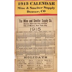 The Mine & Smelter Supply Co. Calendar