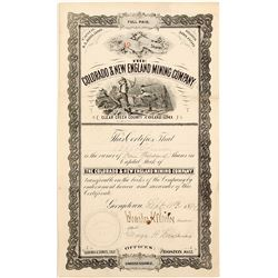 The Colorado & New England Mining Company Stock Certificate