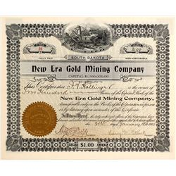 New Era Gold Mining Co. Stock Certificate, 1905 (Colorado & Nevada)