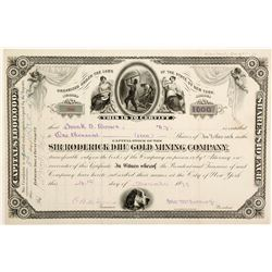 Sir Roderick Dhu Gold Mining Co. Proof Stock Certificate, 1879