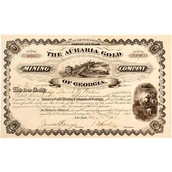 Auraria Gold Mining Company Stock Certificate
