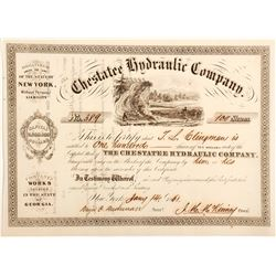 Chestatee Hydraulic Company Stock Certificate