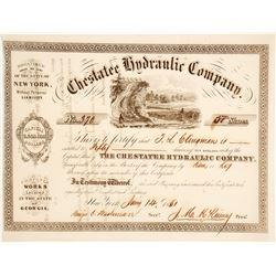 Chestatee Hydraulic Company Stock Certificate 2
