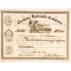 Chestatee Hydraulic Company Stock Certificate 2