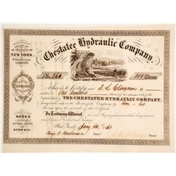 Chestatee Hydraulic Company Stock Certificate 3
