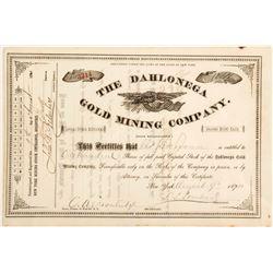 Dahlonega Gold Mining Company Stock Certificate 3