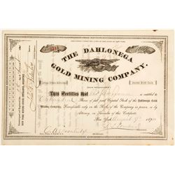 Dahlonega Gold Mining Company Stock Certificate 3