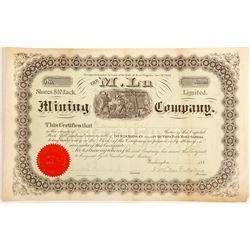 Early M. Lu Mining Company Stock Cetificate