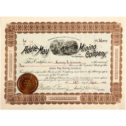 Addie May Mining Company Stock Certificate