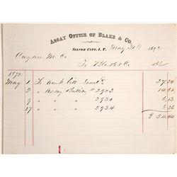 Billhead for Assay Office of Blake & Co., Silver City, Idaho Territory