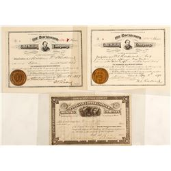 Four Maine Silver Mining Company Stock Certificates