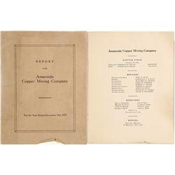 1929 Report of the Anaconda Copper Mining Company