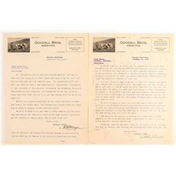 Two Goodall Bros. Assaying Letters