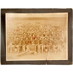 Mounted Photograph of Miners at Broadway Mill, Silver Star, Montana