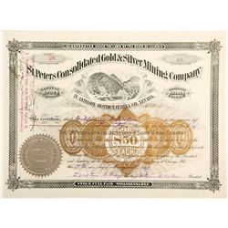 St. Peters Consolidated Gold & Silver Mining Co. Stock Certificate