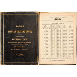 D. J. Lewis Copy of Thos. Price Tables of Gold and Silver
