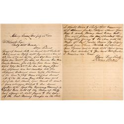 1892 Cherry Creek, NV Letter About Mining in Ruby Hill