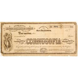 Cornucopia Consolidated Gold & Silver Mining Co. Stock
