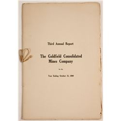 Goldfield Consolidated Mines Co. Third Annual Report (1909)