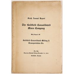 Goldfield Consolidated Mines Co. Sixth Annual Report (1912)