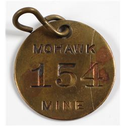 Mohawk Mine Equipment Tag