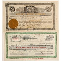Two interesting Goldfield Stock Certificates
