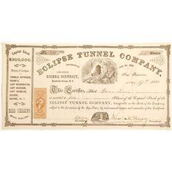 Eclipse Tunnel Company Stock Certificate; Territorial