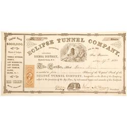Eclipse Tunnel Company Stock Certificate; Territorial
