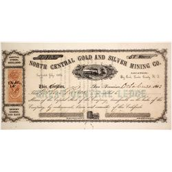 North Central Gold & Silver Mining Co. Stock Certificate, Big Creek, Nevada Territory