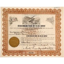 Nevada Rockland Mining and Milling Stock Certificate
