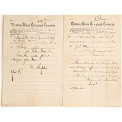 Two Telegrams from Spanish Belt, Nevada 1876