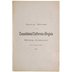 1887 Report of the Cons. California & Virginia Mining Co. incl. a Fire!