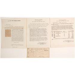 Best & Belcher Mining Co. Documents
