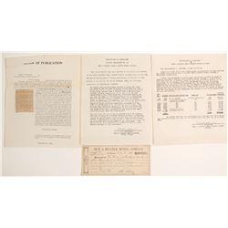 Best & Belcher Mining Co. Documents